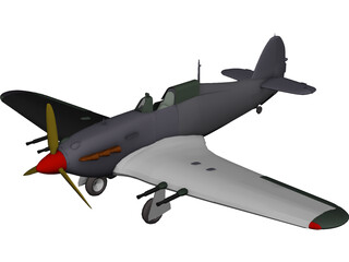 Hawker Hurricane IIC 3D Model