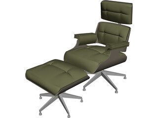 Chair Eames with Footstool 3D Model