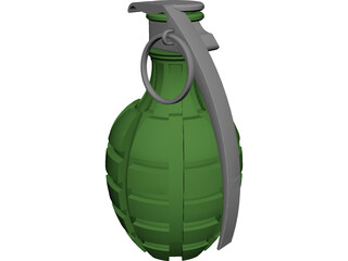 Grenade Pineapple 3D Model 3D Preview