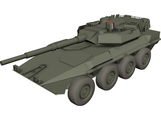 Centauro Tank Destroyer 3D Model