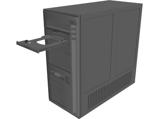 Computer Mini-Tower Case 3D Model