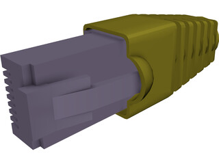 RJ-45 Connector 3D Model