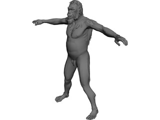 Neanderthal Man 3D Model