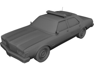Chrysler LeBaron Police Cruiser 3D Model