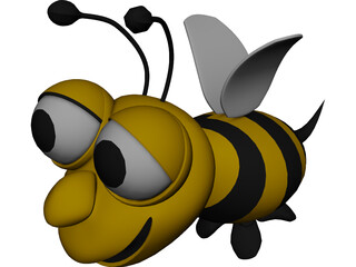 Bee Cartoon 3D Model