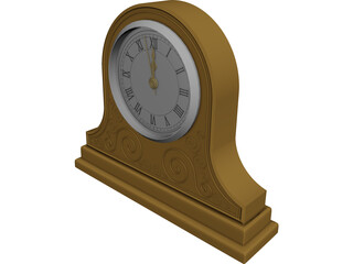 Mantle Clock 3D Model
