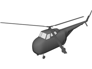 Sikorsky H-19 Chickasaw 3D Model