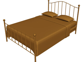 Bed Iron 3D Model