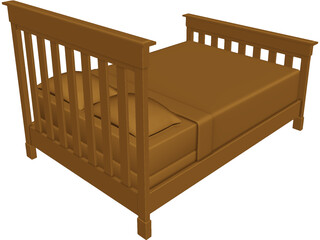 Bed Contemporary 3D Model