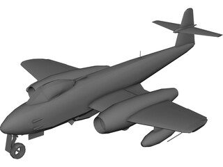 Gloster Meteor NF8 3D Model