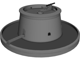 Martello Tower 3D Model