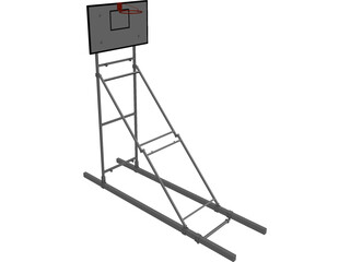 Basketball Ceiling Mounted Frame 3D Model