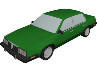 Pontiac 6000 (1984) 3D Model 3D Preview