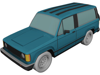 Isuzu Trooper (1986) 3D Model
