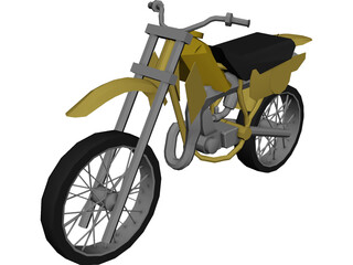 Kawasaki KX-80 (1982)  3D Model 3D Preview