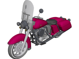 Harley-Davidson Glide 3D Model 3D Preview