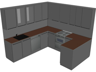 Kitchen Complete 3D Model