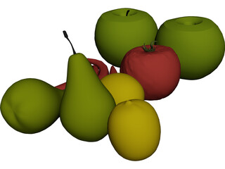 Fruits and Vegetables 3D Model
