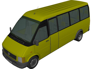 Volkswagen LT Bus [+Interior] 3D Model