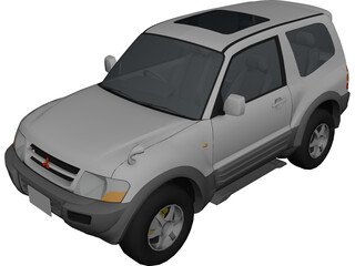 Mitsubishi Pajero 3-door (1999) 3D Model