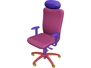 Chair Arms Headrest 3D Model