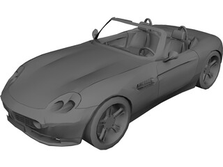 BMW Z8 Convertible 3D Model 3D Preview