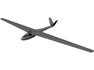 Segelfliegen Glider 3D Model 3D Preview