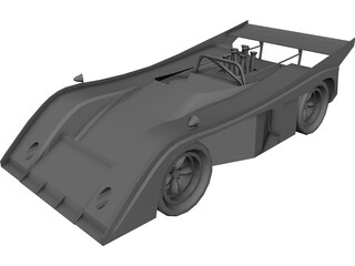 McLaren Race Car (1972) 3D Model 3D Preview