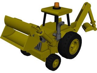 Excavator Toy 3D Model 3D Preview
