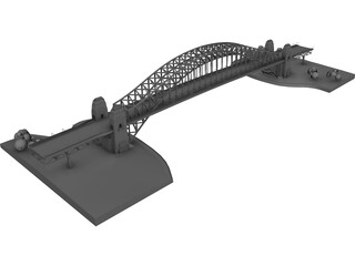 Iron Bridge 3D Model