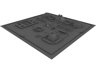 Tenochtitlan City 3D Model