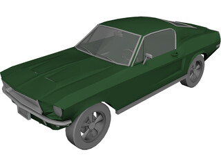 Ford Mustang Fastback (1968) 3D Model