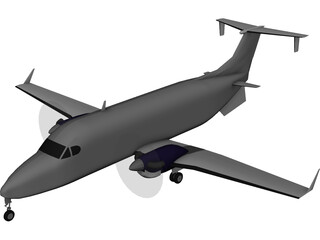 Beechcraft 1900-D 3D Model 3D Preview
