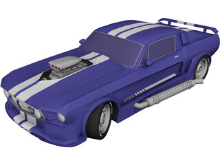 Ford Mustang GT500 Supercharged 3D Model