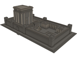Second Temple 3D Model