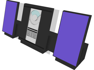 CD Stereo Mini-System 3D Model