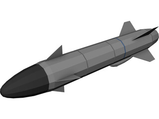 Missile Penguin Anti-Ship 3D Model