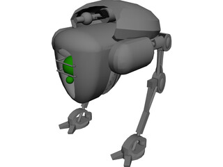 Martian Bombard 3D Model 3D Preview