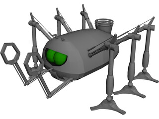 Martian Handling Machine 3D Model