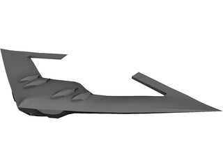 B-2 Stealth Bomber 3D Model 3D Preview