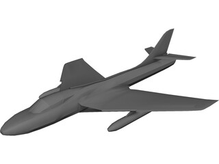 Hawker Hunter 3D Model