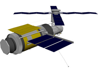 Skylab Space Station 3D Model