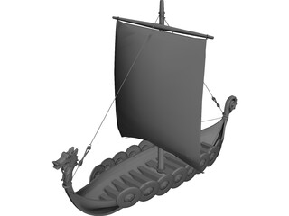 Dragon Longboat 3D Model
