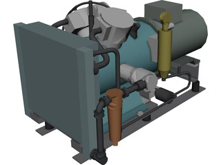 Air Compressor MP 3D Model