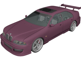 BMW M5 [Tuning] 3D Model 3D Preview