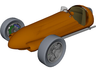 Car 3 Wheeler 3D Model