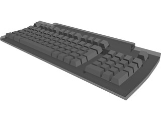 Keyboard Apple 3D Model