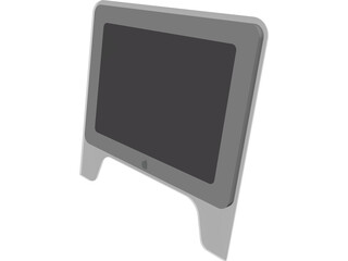 Monitor Flat Apple 3D Model
