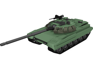 T90 Russian Main Battle Tank (MBT) 3D Model