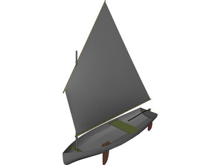 Dingy Sail Boat 3D Model